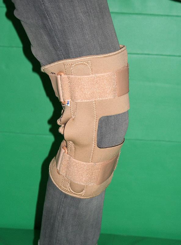 Orteza stawu kolanowego z szynami bocznymi