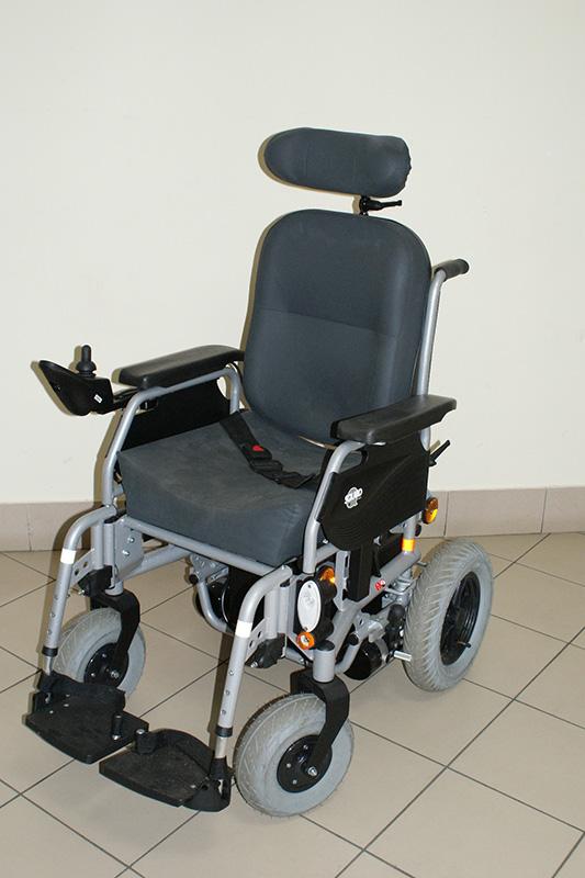 Wózek elektryczny dla dorosłych z podparciem pod głowę